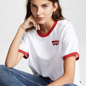 Levi's Ringer White/Red T-Shirt